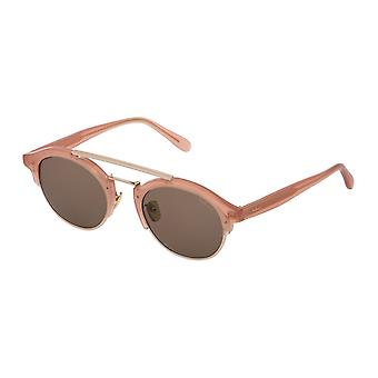 Mulberry Enyd SML006 06DS Shiny Opal Peach/Brown Sunglasses