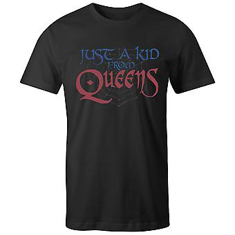 Boys Crew Neck Tee Short Sleeve Men-apos;s T Shirt- Just A Kid From Queens