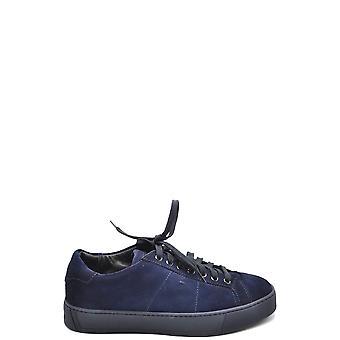 Santoni Ezbc023016 Men's Blue Suede Sneakers