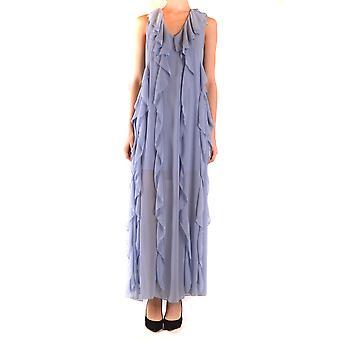 Aniye von Ezbc098017 Frauen's hellblau Polyester Kleid