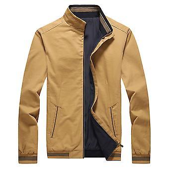 Allthemen Men's Casual Slim Fit Jacket Zip-up Solid Windbreaker Coat