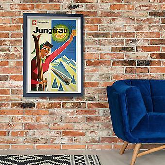 Jungfrau região Suíça Poster impressão giclée