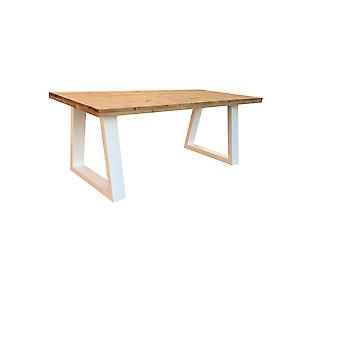 Wood4you - Eettafel Vancouver Roasted wood Wit 220Lx78Hx90D cm