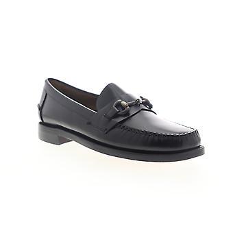 Sebago Classic Joe Citysides  Mens Black Wide Dress Loafers Shoes