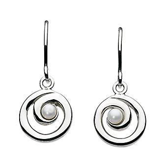 Dew 58007FP001-kvinners anheng øredobber-Sterling sølv 925-24 mm