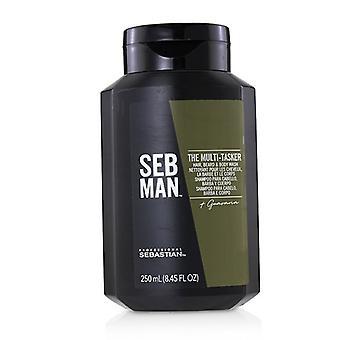 Sebastian Seb man de multi-Tasker (haar, baard & Body Wash) 250ml/8.45 Oz