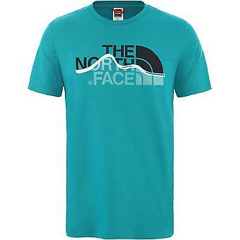 ノースフェイスマウンテンラインT0A3G2H1HユニバーサルサマーメンTシャツ