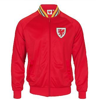 Pays de Galles Cymru FAW Officiel Football Gift Boys Kids Retro Track Top Jacket