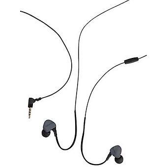 Boompods Sportpods Race langallinen urheilu in-ear kuulokkeet in-korva kuulokkeet, äänenvoimakkuuden säätö, hikeä hylkivä musta