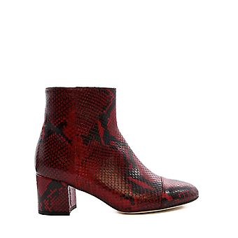 Paris Texas Px129ppythondarkred Women's Red Leather Ankle Boots