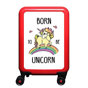 myTrolley Born To Be Unicorn S, 4 rollen, 55 cm, 32 L, Rood