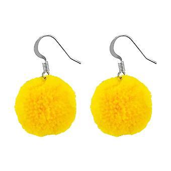 Pom-Pom Cotton Drop Earrings