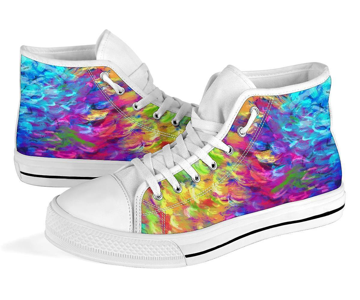 High Top Shoes | Colorful Paint