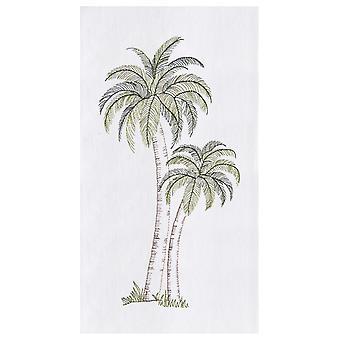 Tropikalne palmy mąki worek kuchnia ręcznik bawełniany 27 cali