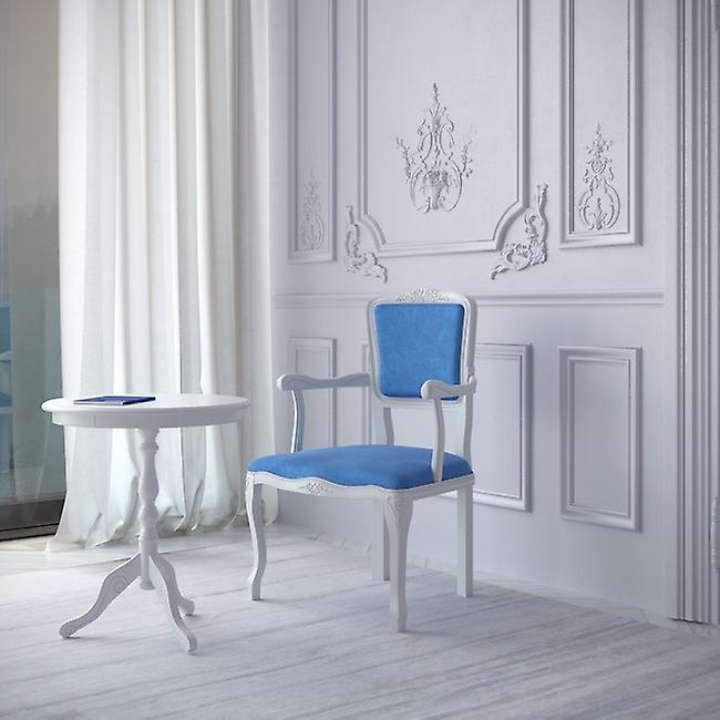 Sedia Diana Colore Bianco, Azzurro in Legno Di Faggio, L55xP50xA85 cm