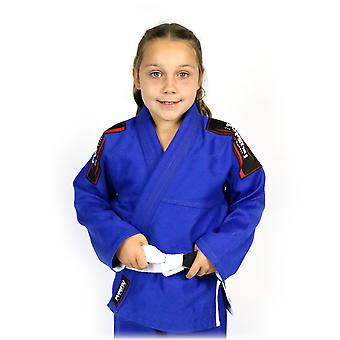 Fumetsu Kids Shield BJJ GI blå