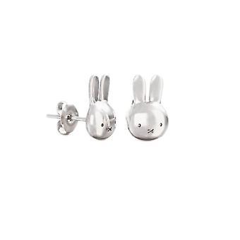 Miffy Sterling Silver Mini Head Stud Earrings