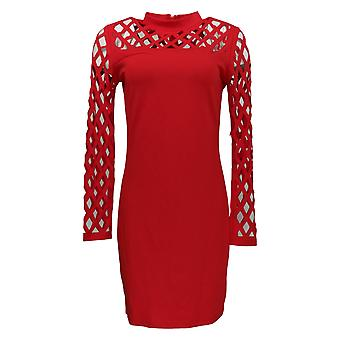 K Jordan Dress Cutout Bodycon Dress Long Sleeve Red