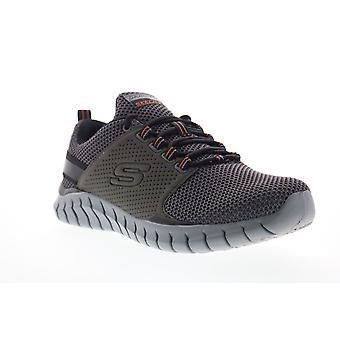 Skechers Overhaul Primba  Mens Gray Wide 2E Mesh Athletic Running Shoes