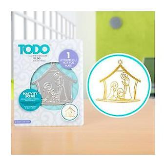 TODO Hot Foil Press Nativity Scene
