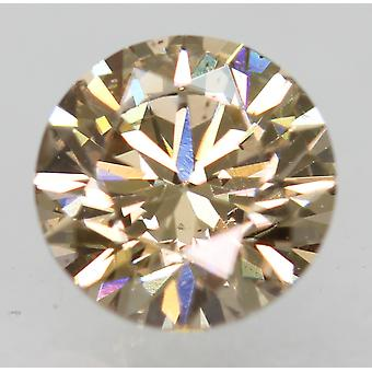Cert 0.71 Carat Fancy Brown VVS1 Round Brilliant Natural Diamond 5.65mm EX CUT