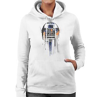 Star Wars R2D2 Paint Art Women's Hooded Sweatshirt