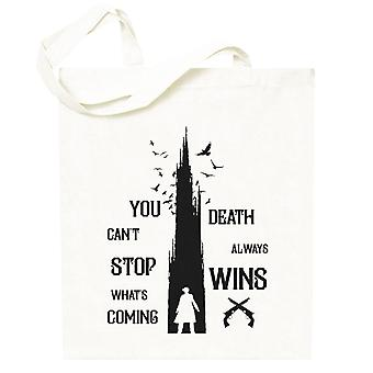 The Dark Tower Gunslinger Death Always Wins Black Totebag