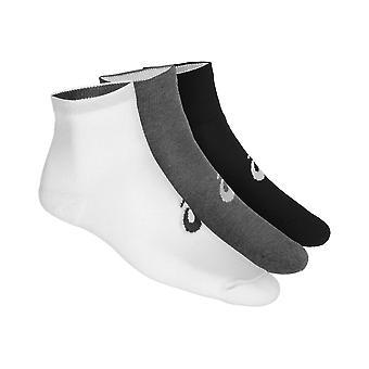 Asics 3 Pack Quarter Mens Socks