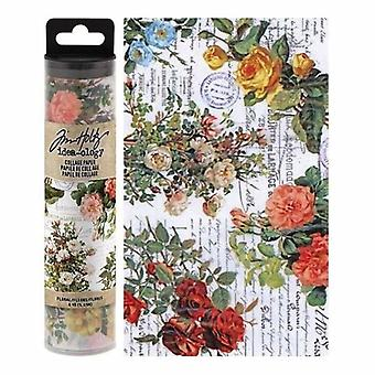 Advantus Tim Holtz Collage Paper Floral (6yards) (TH93707)