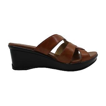 Naturalizer Kvinnor & s Skor Violett Läder Öppna Toe Casual Mule Sandaler