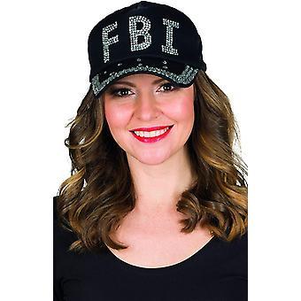 FBI pet stras hoed hoed glitter