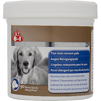 8in1 Hund Tear Stain Remover Pads - 90 Pack