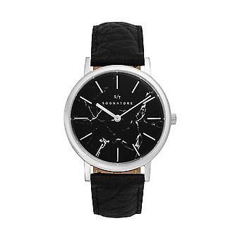 Sognatore Marble Black Silver Women's Watch/Men's Watch