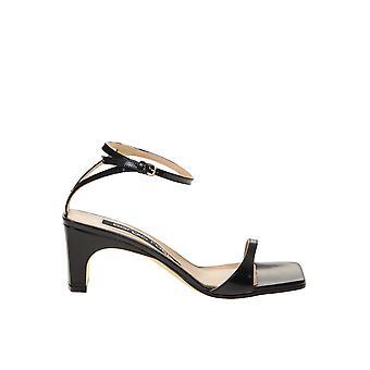 Sergio Rossi A77970mvia101000 Femmes'sandales en cuir noir