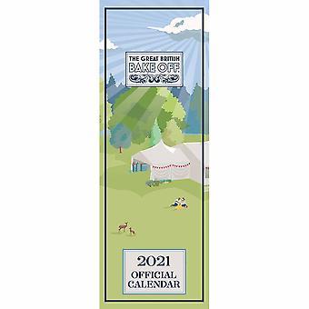 Otter House 2021 Slim Calendar-the Great British Bake Off