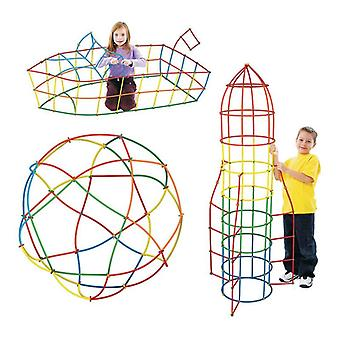 Kids Plastic Tunnel Building Set - Interconnecting Building Blocks Educational