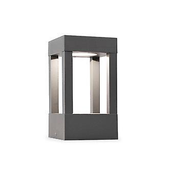 LED Outdoor Pedestal Light Dark Grey IP54