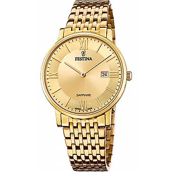 Festina swiss made watch for Analog Quartz Men with stainless steel bracelet F20020/2