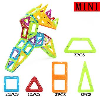 16-45pcs Mini Size Magnetic Designer Construction Set Model & Building Toy