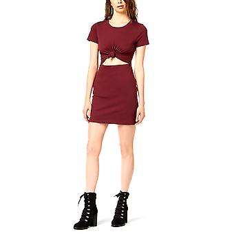 Socialite   Tie-Front Cutout Bodycon Dress