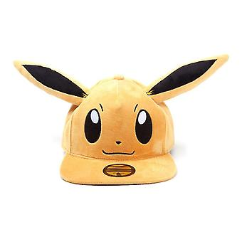 Pokemon Eevee Plush with Ears Snapback Baseball Cap Unisex Brown (SB057768POK)