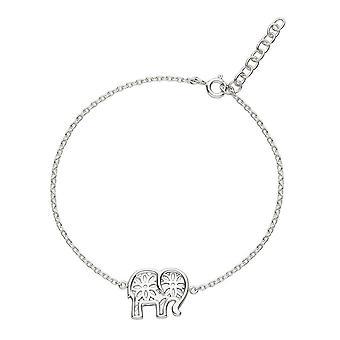 Dug sterling sølv sæt Talisman elefant 7,5 armbånd 7500HP024