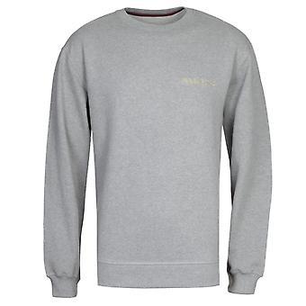 Maharishi Embroidered Souvenir Grey Crew Neck Sweatshirt