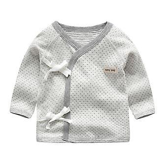 Baby / skjorte, Bomull, Langermet skjorte, V-hals Nattøy