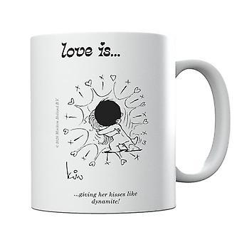 Love Is Giving Her Kisses Like Dynamite Mug