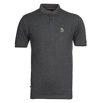 Luke 1977 Regular Fit Getipt Houtskool Polo Shirt