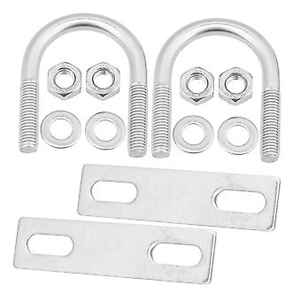 304 Stainless Steel U Bolt Set Marine Boat Deck Hardware M8x33 Pack of 2