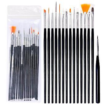 Plastic Handle Pull Hook Line Pen -nail Artists Set
