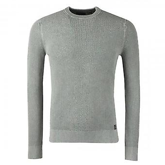 Superdry Academy Dyed Texture Crew Neck Jumper Washed Grey Y6K