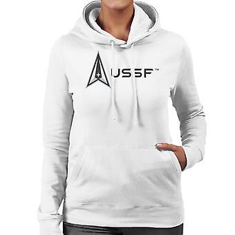 U.S. Space Force Lighter Logo USSF Women's Hooded Sweatshirt